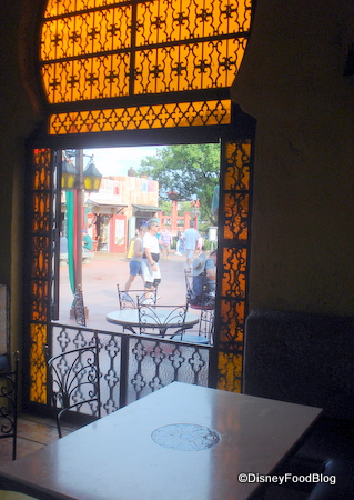 View from indoor table