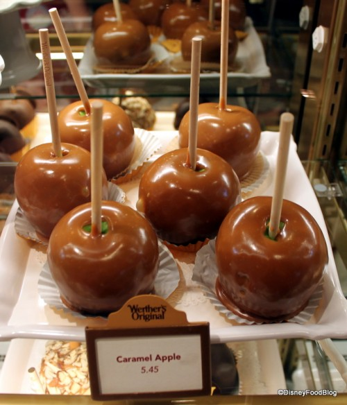 Plain Caramel Apples are now available for a snack credit