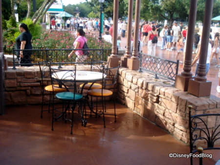 View from Outdoor Seating