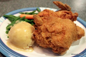 Fried Chicken at 50's Prime Time Cafe