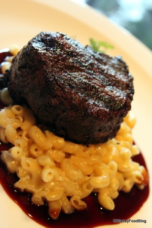 Filet and Mac and Cheese at Jiko (Mac and Cheese can be ordered by request)
