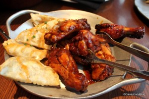 'Ohana Wings and Pot Stickers Appetizers