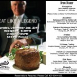 Reminder: Shula's Steakhouse Brew Dinner December 2nd, 2010