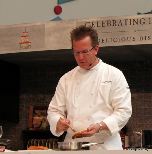 Keegan Gerhard during a 2010 Culinary Demo