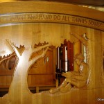 Wooden Reading Sculpture