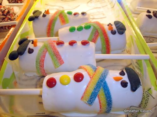 Marshmallow Snowmen Wands
