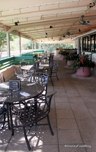 Outdoor Seating at the Turf Club