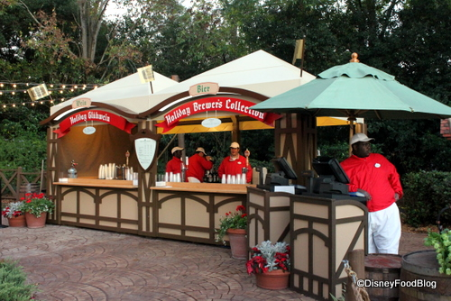 Holiday brewer s collection booths in epcot the disney food blog - Food booth ideas ...