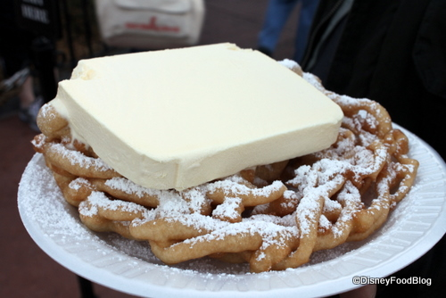 Try your funnel cake with ice cream!