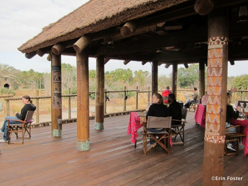 The new boma on the Kilimanjaro Safari savanna
