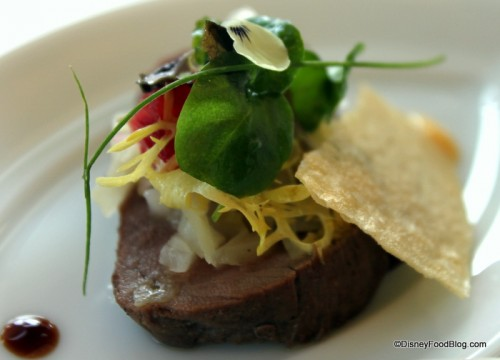 Smoked Bison at Remy