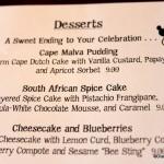 old dessert menu