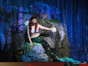 Ariel centerstage at El Capitan introducing her movie
