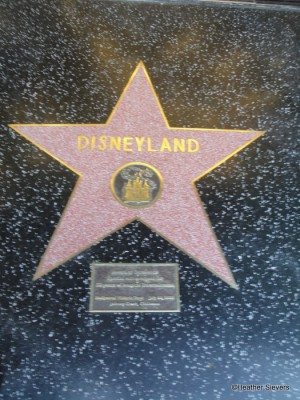Even Disneyland has its very own star on the Walk of Fame