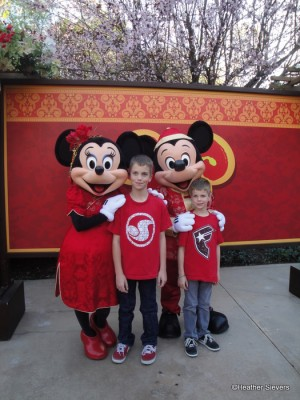 My Boys with Mickey & Minnie