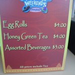 Egg Roll Cart Menu