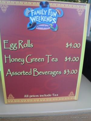 Egg Roll Cart Menu