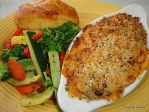 Four Cheese Pasta & Vegetable Gratin
