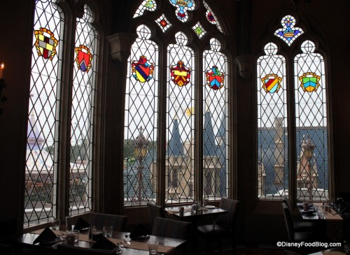 Dining Room Windows at Cinderella's Royal Table