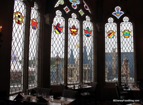 Dining Room Windows at Cinderella's Royal Table