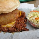 The Pioneer Chili Cheeseburger with Zesty Slaw