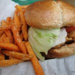 Crispy Chicken Sandwich with Sweet Potato Fries