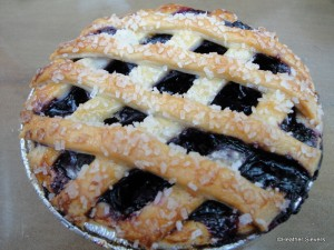 Mini Blueberry Pie with Lattice Crust