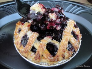 Mini Blueberry Pie Served Up Warm