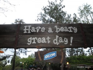 A Fond Farewell Sign As You Exit The Hungry Bear