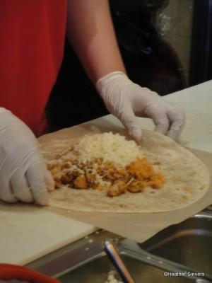 Chiecken Burrito in the Making