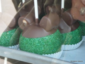 "St. Patrick's Day ""Mickey"" Caramel Apple Close Up"