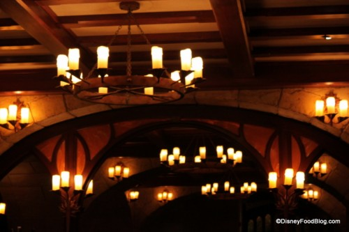 Le Cellier Ceilings and Chandeliers