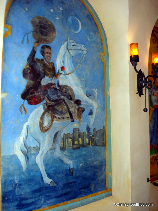 Review disneyland s rancho del zocalo the disney food blog for Disneyland mural