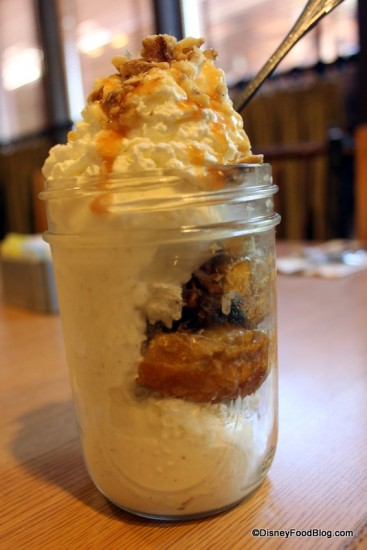 Grab this Sticky Bun Sundae -- or another mouth watering menu item -- at Trail's End on your Magic Kingdom Day