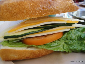 Three Cheese Veggie Sandwich