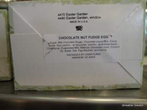 Chocolate Nut Fudge Egg Ingredients