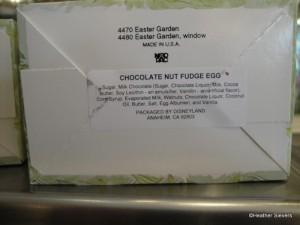 Chocolate Nut Fudge Egg Ingredients