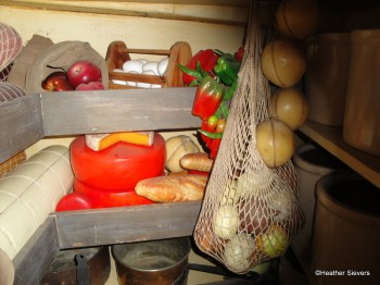 Eggs, Cheese, Bread & Veggies in the Galley's Pantry