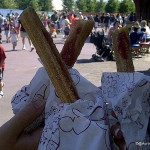 Snack Series: Strawberry-Filled Churros At Friar's Nook in Magic Kingdom