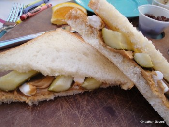 The Peanut Butter, Pickle, Marshmallow Masterpiece