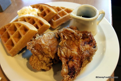 Chicken and Waffles are a fun menu item at Trail's End Restaurant