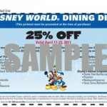 Dining Discount Offered at Disney World and Disneyland