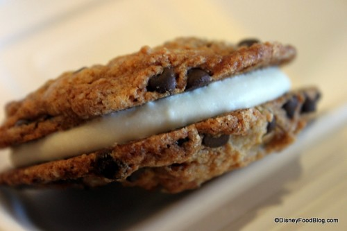 Babycakes NYC chocolate chip cookie frosting sandwich