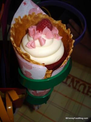 Red Velvet Cowboy Cone Cake