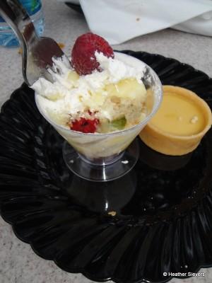 English Trifle & Dundee Cake and British Burnt Cream