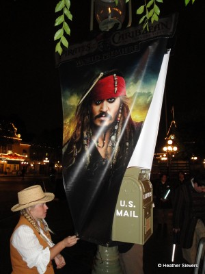Cast Member Removing Captain Jack at the End of the Night