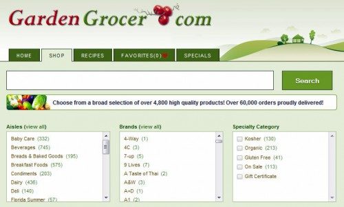 Choose Food by Aisle, Brand, and Specialty Category at GardenGrocer.com