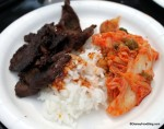 Boolgogi BBQ Beef with steamed Rice and Kimchi
