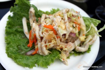 Lettuce Wrap with Roast Pork and Kimchi Slaw
