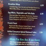 New Tangaroa Terrace Menu at the Disneyland Hotel